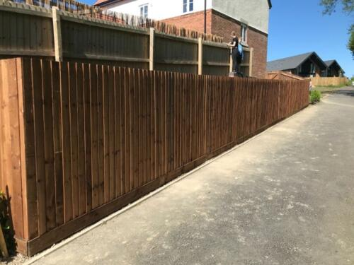 6ft Close Board Fencing on Arris Rails in Burton on Trent 2