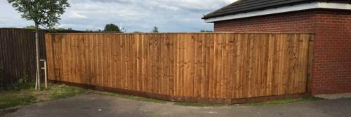 Close board fencing in Derby