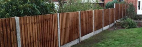 Close board panels on concrete posts and concrete gravel boards in Nottingham 2