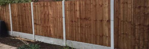 Close board panels on concrete posts and concrete gravel boards in Nottingham 3