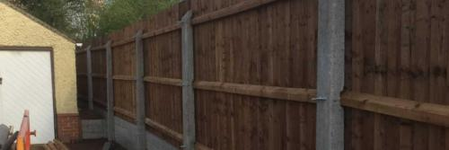 Closeboard Fencing on Concrete Posts and Concrete Gravel Boards Derby