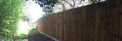 Closeboard Fencing on Concrete Posts and Concrete Gravel Boards Nottingham