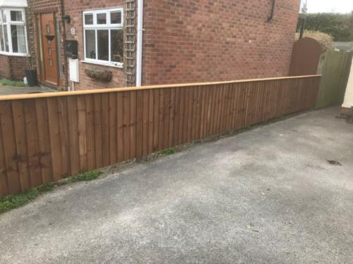 3ft close board fencing in Nottingham