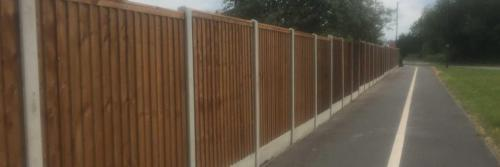 timber fencing in Derby